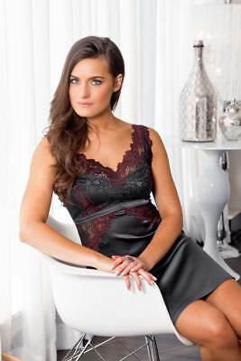 Lace Overlay Soft Satin Nightgown Dress Chemise Lingerie Adult Women Plus Size
