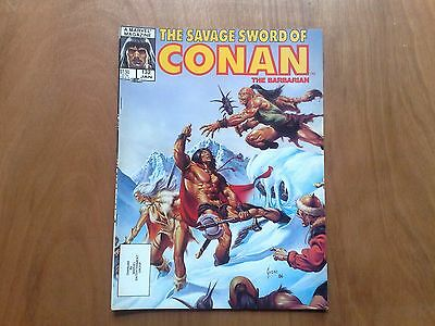 Savage Sword Of Conan The Barbarian #132 Marvel Comics Jan. 1987 U.s. Mag. Fine