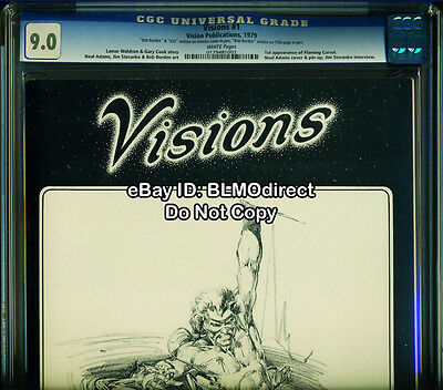 CGC 9.0 Visions #1 Fanzine Magazine 1st Flaming Carrot Signed by Bob Burden