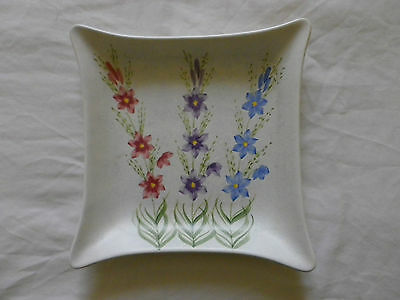 Edward Radford Pottery England Hand Painted Square Plate / Dish.