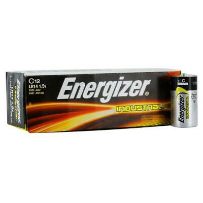 12x Energizer LR14 Industrial C Size Batteries Long-lasting 1.5 Alkaline Battery