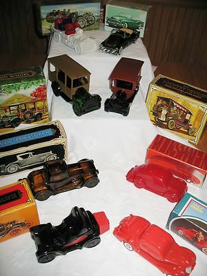 8 Vintage AVON Auto After Shave Decanters Thomas Flyer Country Vendor + FULL Lot