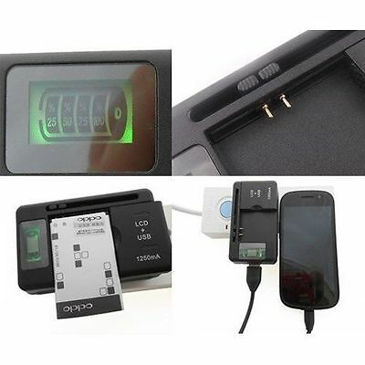 New Universal Battery Charger Digital Lcd For Samsung Plus Usb Charging Port Usa