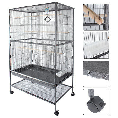 """60"""" Large Bird Cage Parrot Finch Macaw Cockatoo Canary Pet Supplies Perch Grate"""