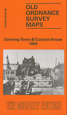 Old Ordnance Survey Map Canning Town & Custom House 1894
