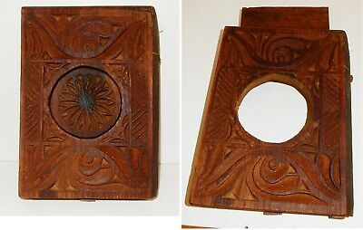 Antique / Vintage Middle Eastern Hand Carved Wooden Door Peep Hole
