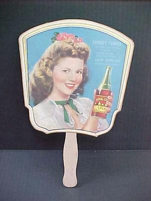 SHIRLEY TEMPLE ROYAL CROWN COLA RC Hand Fan Advertising I'LL Be Seeing You Movie