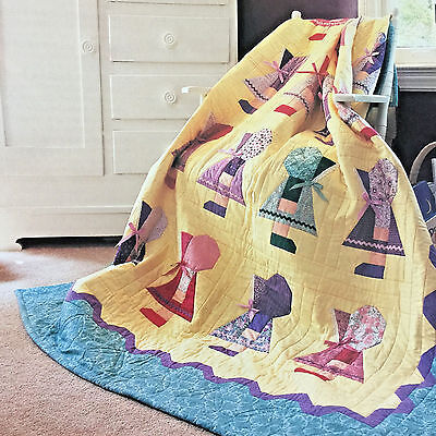 It's Okay To Be Different *pieced!* Sunbonnet Sue Vintage Quilt Pattern