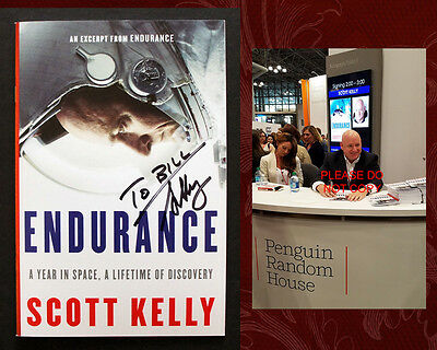 SCOTT KELLY SIGNED - Excerpt of ENDURANCE from Book Expo NY, with PHOTO!