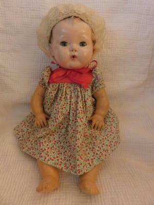 """American Character 1950's Tiny Tears Doll 15"""" Great Condition Working Eyes"""