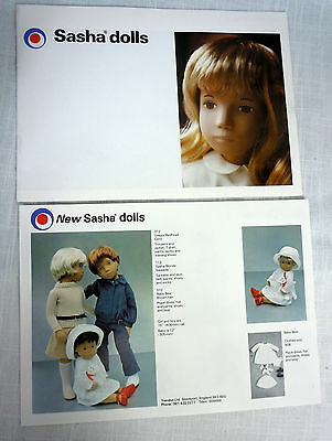 Sasha Dolls 1980 Catalog  w 1982 Supplement Brochure Pamphlet Clothes Brochure