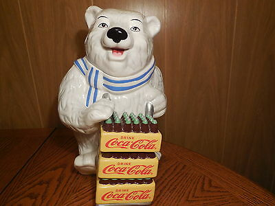 Gibson ~ Coca Cola Polar Bear Cookie Jar ~ 2001