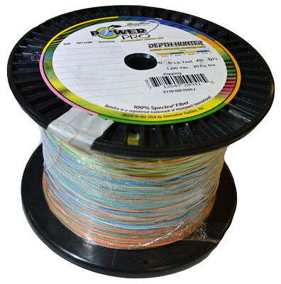 Power Pro Braid - Depth Hunter Multi colour 1500 Yard Spool
