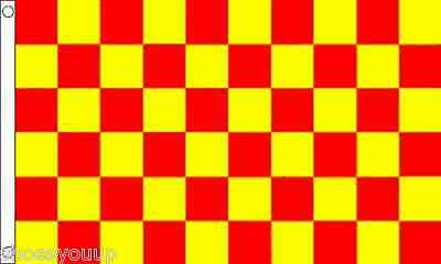 Red and Yellow Check Flag 5ft x 3ft (150cm x 90cm) flag Banner