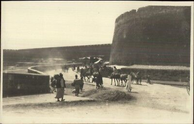 Great Wall of China Chinese & Horses c1910 Real Photo Postcard EXC COND chn