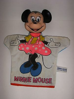 1960's MINNIE MOUSE Vintage WALT DISNEY HAND PUPPET Old Figure Performing Doll