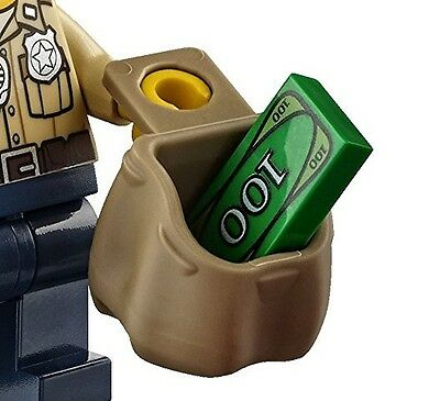 LEGO Minifigure Backpack Open Dark Tan 92590 Sack Bag City Knapsack Santa Mail