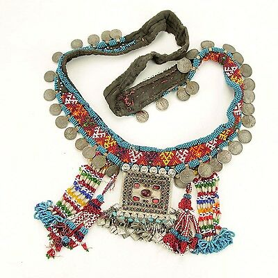 Belly Dance Nomadic Afghan TRIBE Coin BELT Kuchi 867w9