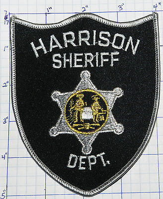 """West Virginia, Harrison County Sheriff Black & Gray 5"""" Patch"""