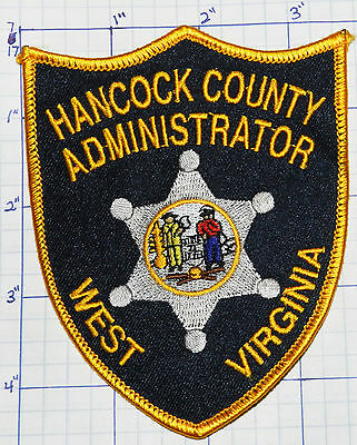 West Virginia, Hancock County Administrator Sheriff Patch