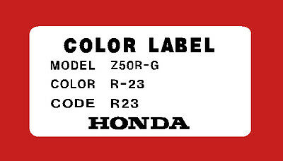 HONDA Z50R 1980 THRU 1987 TANK WARNING  DECALS REPRO