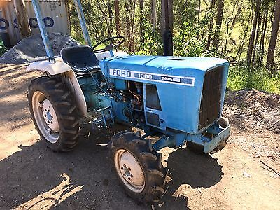 1981 Ford 1300 16HP 4WD Tractor, 2 Cylinder Diesel + FREE Slasher & Trailer