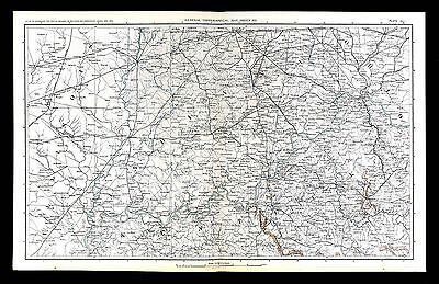 Civil War Map Indiana Kentucky Illinois Ohio Cincinnati Louisville Indianapolis