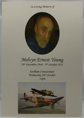 Personalised Veteran Funeral Military Order Of Service Book Ivory 4 8 12 16 Page
