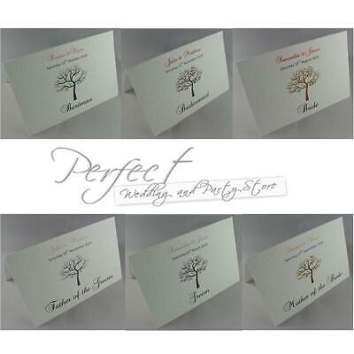 Wedding Table Party Personalised Place Name Cards Love Bird 15 Colours