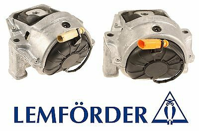 Audi Q5 2009-2012 Kit of Front Left and Right Engine Mounts Lemfoerder NEW