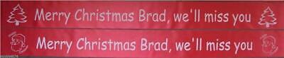Personalised Any Occasion Christmas New Year Polyester Ribbon Party Banner