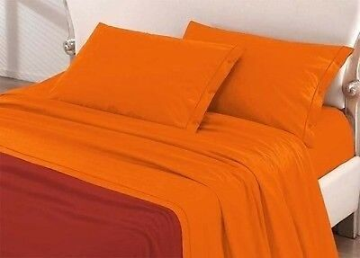 KOMPLETTES SET queensize - 1 QUADRAT 1/2 ORANGE