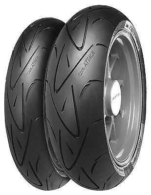 Continental Conti Sport Attack Tyre Set 190/50 ZR17 120/70 ZR17 SuperSport