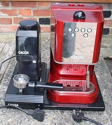 gaggia baby coffee machine and grinder picclick uk. Black Bedroom Furniture Sets. Home Design Ideas