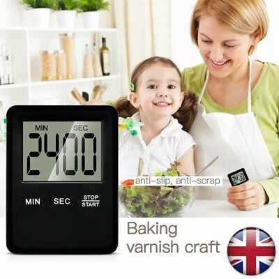 LCD Digital Cooking Kitchen Timer Alarm Magnetic Count Down Up Egg Clock Beep