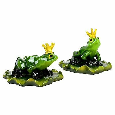 Floating Frog Prince Garden Ornament Lightweight Pond Decor Feature