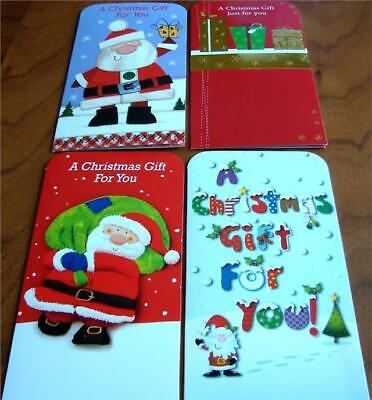 4 Luxury Christmas Money Present  Gift Voucher Wallets With Envelopes