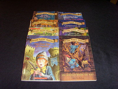 Lot Of 8 - Dragon Slayers' Academy - Paperback Chapter Books - Kate Mcmullan