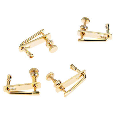 4 Pcs Violin Fine Tuners Adjusters for 4/4 Size Violin Fiddle Musical Parts