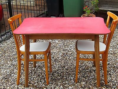 Retro 1950s 60s vintage formica table and chairs free local delivery picclick uk - Retro formica table and chairs ...