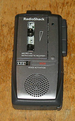 Radio Shack Micro-44 VOX Voice-Activated Microcassette Recorder  Model # 14-1183