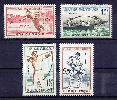 FRANCE 1958 French Traditional Games Archery - 4 MNH values - Cat £11.90 - (125)