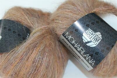 Wolle Kreativ! Lana Grossa - Mohairlana Color - Fb. 101 rosa/beige 25 g