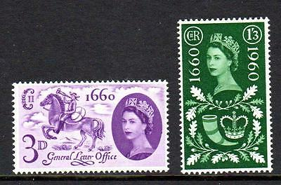 1960 GB TERCENTENARY GENERAL LETTER OFFICE SG 619 - 620 MNH Stamp Set