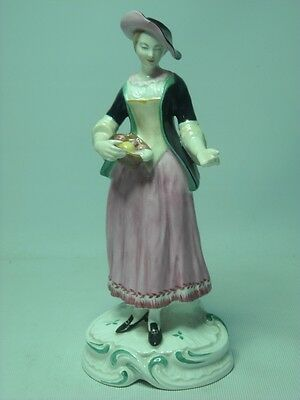 Spode Chelsea LADY CARRYING SELLING FRUIT 6 Photos #4 Figurine