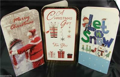 3 Luxury Xmas Money Gift Voucher Christmas Wallets And Envelopes