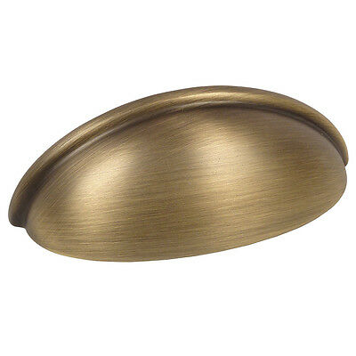 *10 Pack* Cosmas Cabinet Hardware Brushed Brass Bin Cup Handle Pulls #1399BB