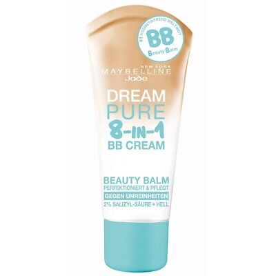 Maybelline Dream Pure BB Cream 8 in 1 Light 30ml Foreign Text