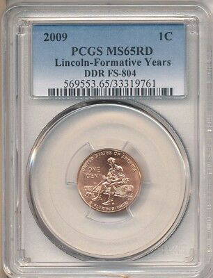 2009 1c DDR-008/FS-804 New CPG PCGS MS65 Red