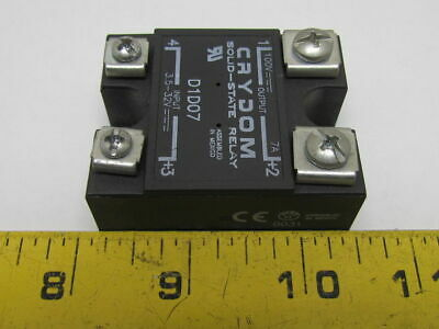 CRYDOM D1D07 Panel Mount Solid State Relay In 3.5-32VDC Out 100VDC 7A